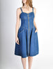 Fendi Vintage Blue Denim Jean Dress - Amarcord Vintage Fashion  - 3