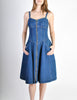 Fendi Vintage Blue Denim Jean Dress - Amarcord Vintage Fashion  - 2