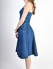 Fendi Vintage Blue Denim Jean Dress - Amarcord Vintage Fashion  - 4
