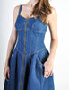 Fendi Vintage Blue Denim Jean Dress - Amarcord Vintage Fashion  - 7