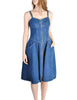 Fendi Vintage Blue Denim Jean Dress - Amarcord Vintage Fashion  - 1