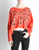 Fendi Vintage Red Geometric Print Crop Top - Amarcord Vintage Fashion  - 6