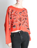 Fendi Vintage Red Geometric Print Crop Top - Amarcord Vintage Fashion  - 3