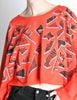 Fendi Vintage Red Geometric Print Crop Top - Amarcord Vintage Fashion  - 2