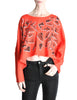 Fendi Vintage Red Geometric Print Crop Top - Amarcord Vintage Fashion  - 1