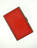Fendi Vintage Red Monogram Logo Cigarette Card Case