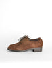Ferragamo Vintage Brown Suede Heeled Oxford Shoes - Amarcord Vintage Fashion  - 2