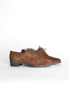 Ferragamo Vintage Brown Suede Heeled Oxford Shoes - Amarcord Vintage Fashion  - 4