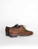 Ferragamo Vintage Brown Suede Heeled Oxford Shoes - Amarcord Vintage Fashion  - 6