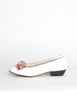 Ferragamo Vintage White and Plaid Bow Front Pump Shoes - Amarcord Vintage Fashion  - 2
