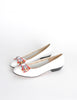 Ferragamo Vintage White and Plaid Bow Front Pump Shoes - Amarcord Vintage Fashion  - 4
