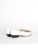 Ferragamo Vintage White and Plaid Bow Front Pump Shoes - Amarcord Vintage Fashion  - 6