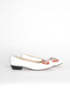 Ferragamo Vintage White and Plaid Bow Front Pump Shoes - Amarcord Vintage Fashion  - 5