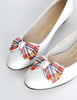 Ferragamo Vintage White and Plaid Bow Front Pump Shoes - Amarcord Vintage Fashion  - 3