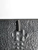 Ferré Vintage Black Alligator Portfolio Clutch - Amarcord Vintage Fashion  - 4
