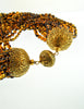 Ferré Vintage Multistrand Brown Glass Beaded Necklace - Amarcord Vintage Fashion  - 4