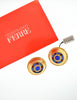 Gianfranco Ferré Vintage Gold Blue & Red Rhinestone Earrings - Amarcord Vintage Fashion  - 5