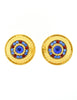 Gianfranco Ferré Vintage Gold Blue & Red Rhinestone Earrings - Amarcord Vintage Fashion  - 2