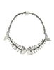 Mexican Vintage Sterling Silver Fish Bone Necklace - Amarcord Vintage Fashion  - 1