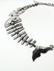 Mexican Vintage Sterling Silver Fish Bone Necklace - Amarcord Vintage Fashion  - 7