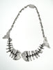 Mexican Vintage Sterling Silver Fish Bone Necklace - Amarcord Vintage Fashion  - 8