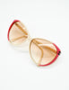 Gucci Vintage Cream and Red Sunglasses - Amarcord Vintage Fashion  - 3