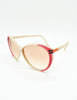 Gucci Vintage Cream and Red Sunglasses - Amarcord Vintage Fashion  - 6