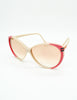 Gucci Vintage Cream and Red Sunglasses - Amarcord Vintage Fashion  - 2