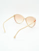 Gucci Vintage Cream and Red Sunglasses - Amarcord Vintage Fashion  - 7