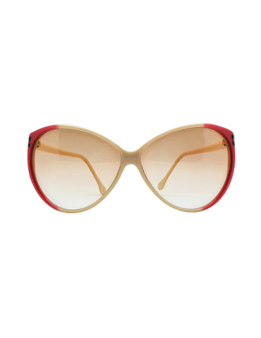 Gucci Vintage Cream and Red Sunglasses