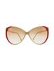 Gucci Vintage Cream and Red Sunglasses - Amarcord Vintage Fashion  - 1