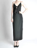 Galanos Vintage Black Knot Bust Dress - Amarcord Vintage Fashion  - 2