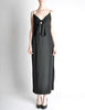 Galanos Vintage Black Knot Bust Dress - Amarcord Vintage Fashion  - 3