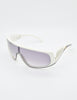 Galitzine Vintage White and Black Comb Side Sunglasses - Amarcord Vintage Fashion  - 3