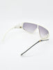 Galitzine Vintage White and Black Comb Side Sunglasses - Amarcord Vintage Fashion  - 8