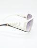 Galitzine Vintage White and Black Comb Side Sunglasses - Amarcord Vintage Fashion  - 6