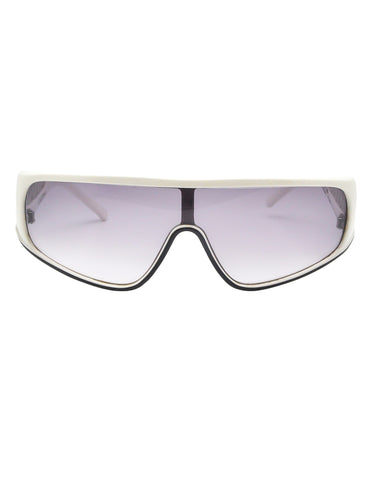 Galitzine Vintage White and Black Comb Side Sunglasses