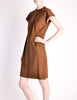 Geoffrey Beene Vintage Brown Wool Dress - Amarcord Vintage Fashion  - 3