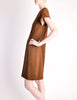 Geoffrey Beene Vintage Brown Wool Dress - Amarcord Vintage Fashion  - 4