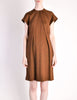 Geoffrey Beene Vintage Brown Wool Dress - Amarcord Vintage Fashion  - 5