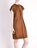 Geoffrey Beene Vintage Brown Wool Dress - Amarcord Vintage Fashion  - 2