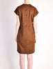 Geoffrey Beene Vintage Brown Wool Dress - Amarcord Vintage Fashion  - 6