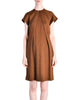 Geoffrey Beene Vintage Brown Wool Dress - Amarcord Vintage Fashion  - 1