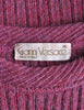 Versace Vintage Purple Sweater with Studded Sleeves - Amarcord Vintage Fashion  - 8