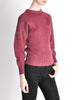 Versace Vintage Purple Sweater with Studded Sleeves - Amarcord Vintage Fashion  - 4