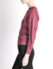 Versace Vintage Purple Sweater with Studded Sleeves - Amarcord Vintage Fashion  - 3