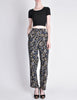 Armani Vintage Black Silk Floral High Waist Pants - Amarcord Vintage Fashion  - 2