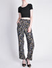 Armani Vintage Black Silk Floral High Waist Pants - Amarcord Vintage Fashion  - 4