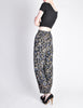 Armani Vintage Black Silk Floral High Waist Pants - Amarcord Vintage Fashion  - 3
