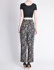 Armani Vintage Black Silk Floral High Waist Pants - Amarcord Vintage Fashion  - 5